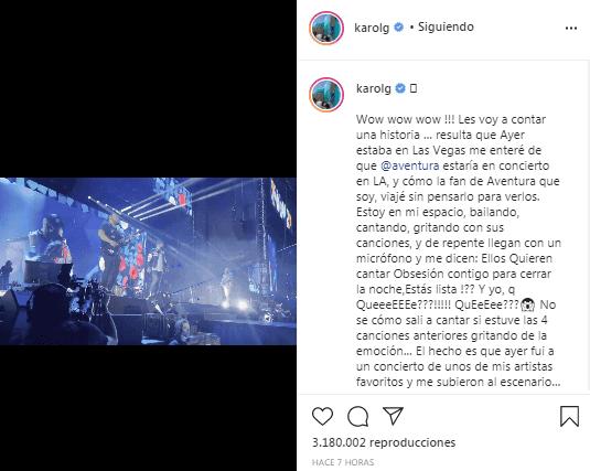 Karol G de fanática a cantante en concierto de Romeo
