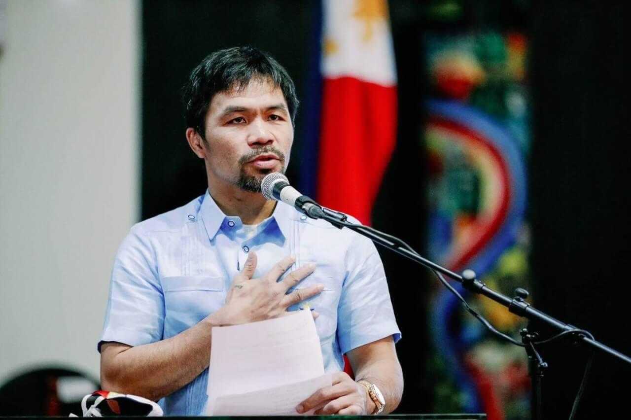 El boxeador Manny Pacquiao anuncia su candidatura a presidente en Filipinas