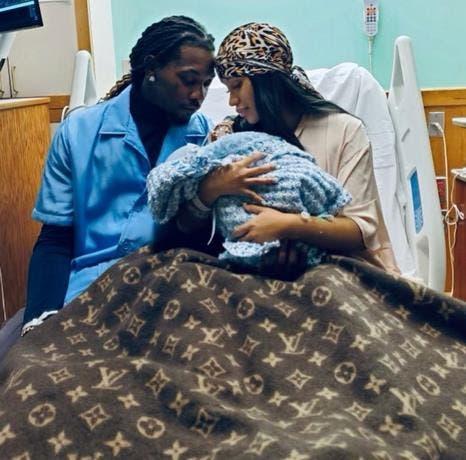 Nació segundo bebé de Cardi B