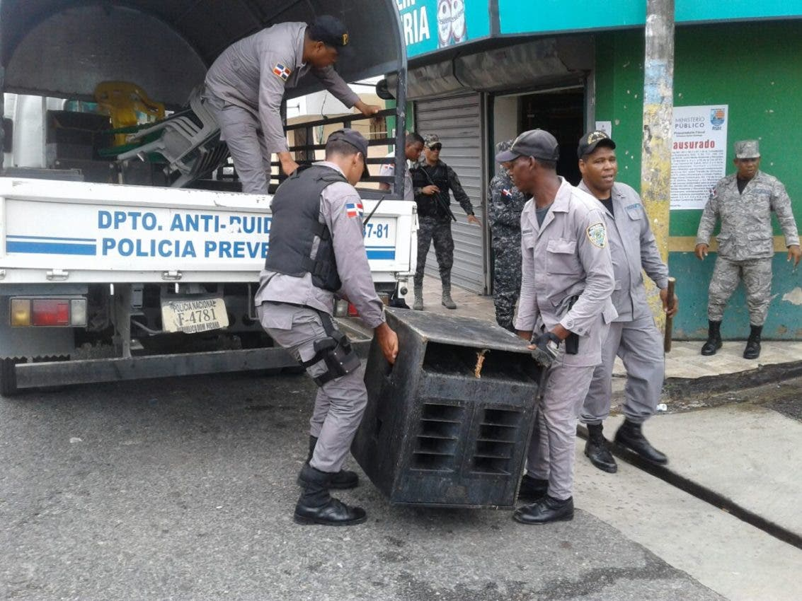 PN ocupa equipos sonido en Santiago