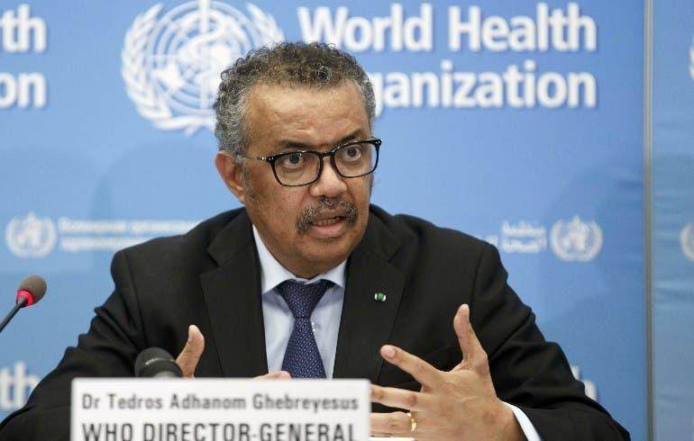 """OMS estima que pandemia está """"lejos del final"""""""