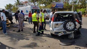 Un muerto 4 heridos accidentes tránsito PP