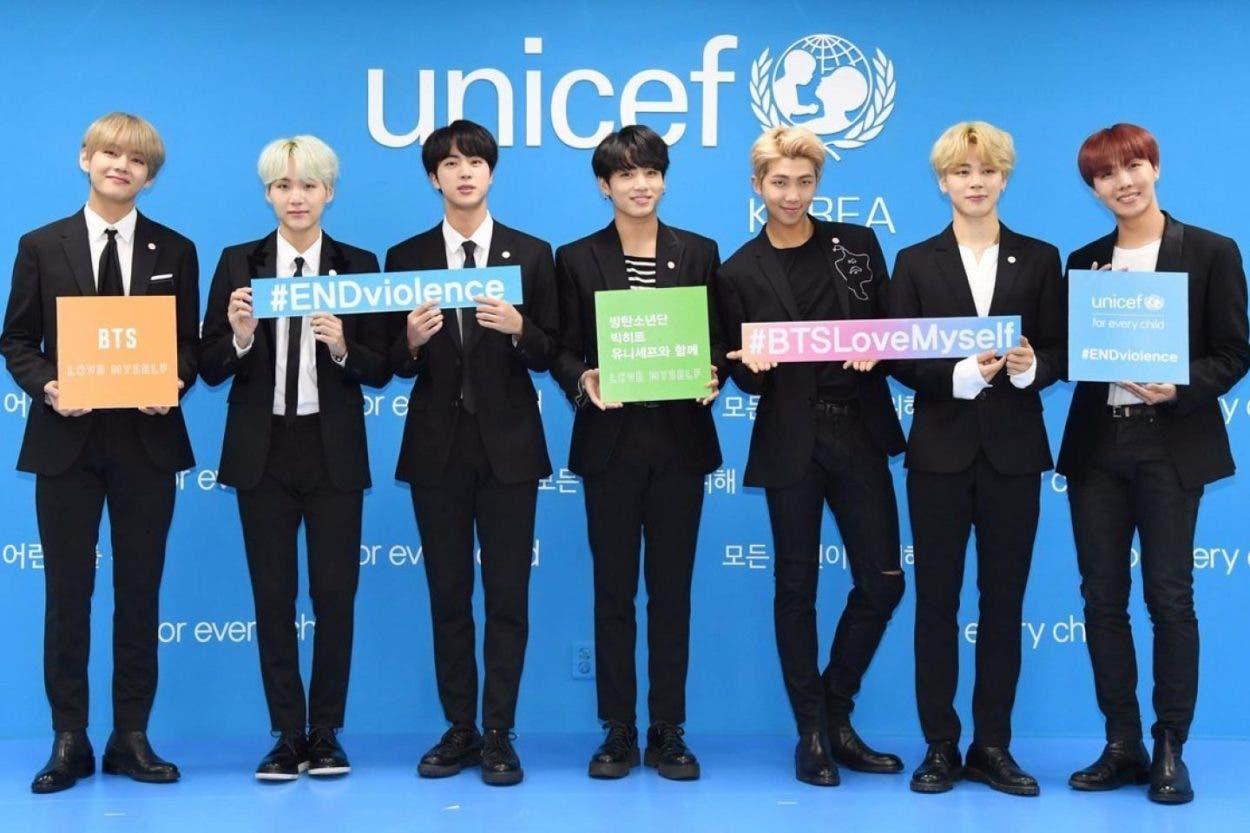 Campaña de BTS con ONU recauda millones de dólares y tuits