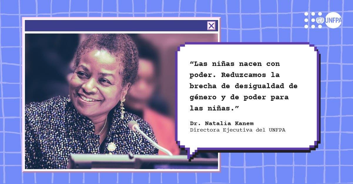 """""""Las niñas nacen con poder"""" dice directora   del UNFPA"""