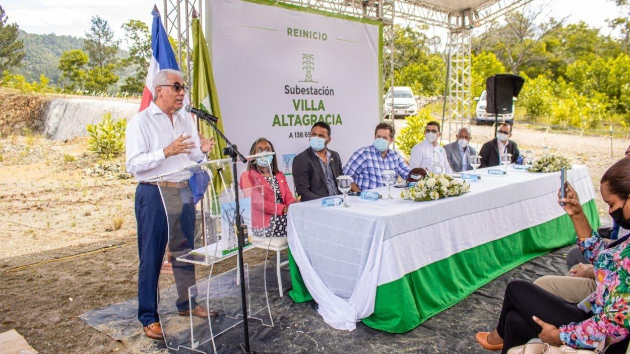 ETED reinicia construcción de subestación en Villa Altagracia