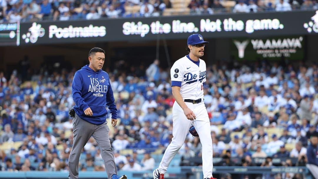 Kelly abre por Dodgers, permite jonrón y se lesiona