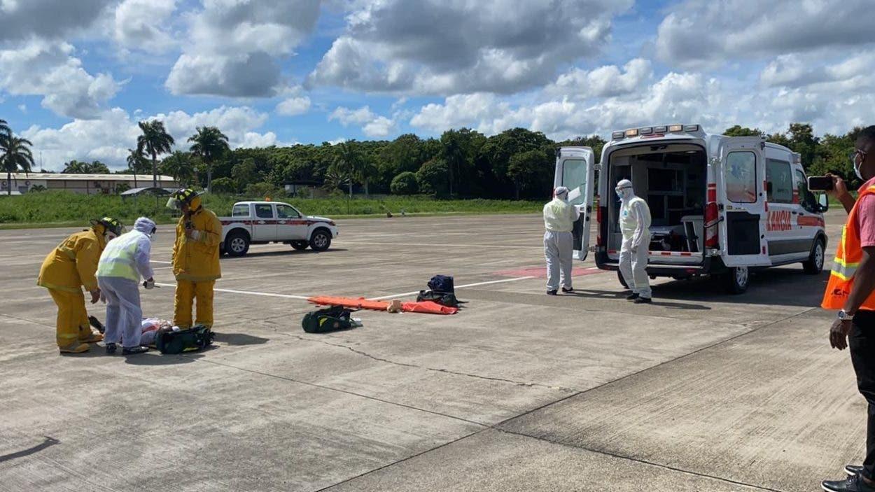 Aeropuerto Puerto Plata realiza simulacro sobre ataque bioterrorista