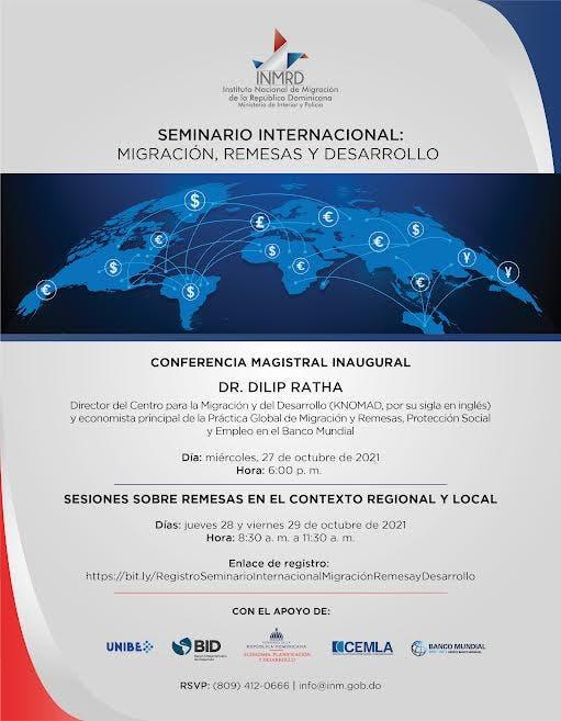 Instituto Nacional de Migración realizará  seminario sobre remesas y desarrollo